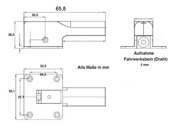 Einziehfahrwerk elektrisch PZ-15090S lenkbar, Metall Wild Technik